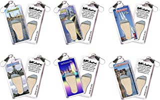 "product image for Jacksonville""FootWhere"" Souvenir Zipper-Pulls. 6 Piece Set. Made in USA"