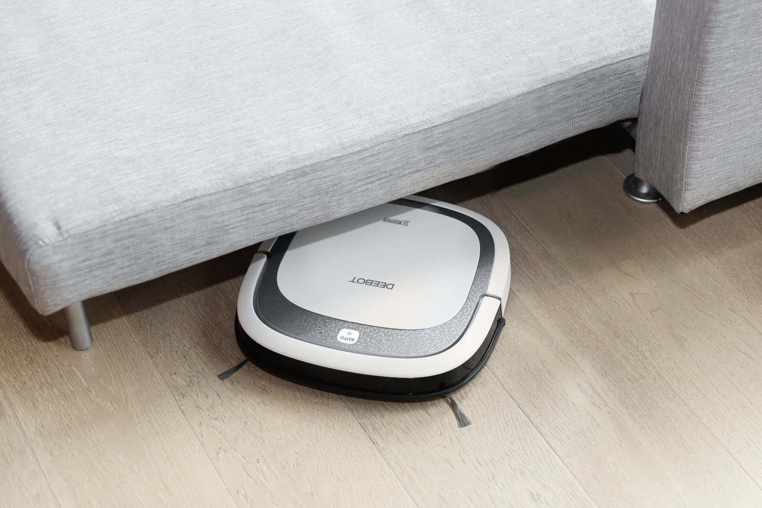 $159.99 (was $317.97) ECOVACS DEEBOT Slim2 Robotic Vacuum Cleaner for Bare Floors Only with Dry Mopping Feature