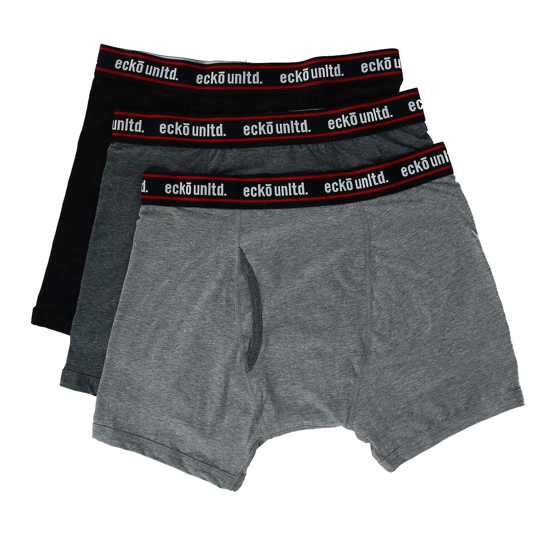 3 Pair Pack Ecko Mens Cotton Boxer Brief Underwear