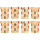 Jacob's Ladder Toy – 8-Pack Wooden Visual Illusion Blocks, Science Physics Educational Kids Toy, 2 Designs, Chicken Frog, 4.3 x 0.19 x 5.3 Inches