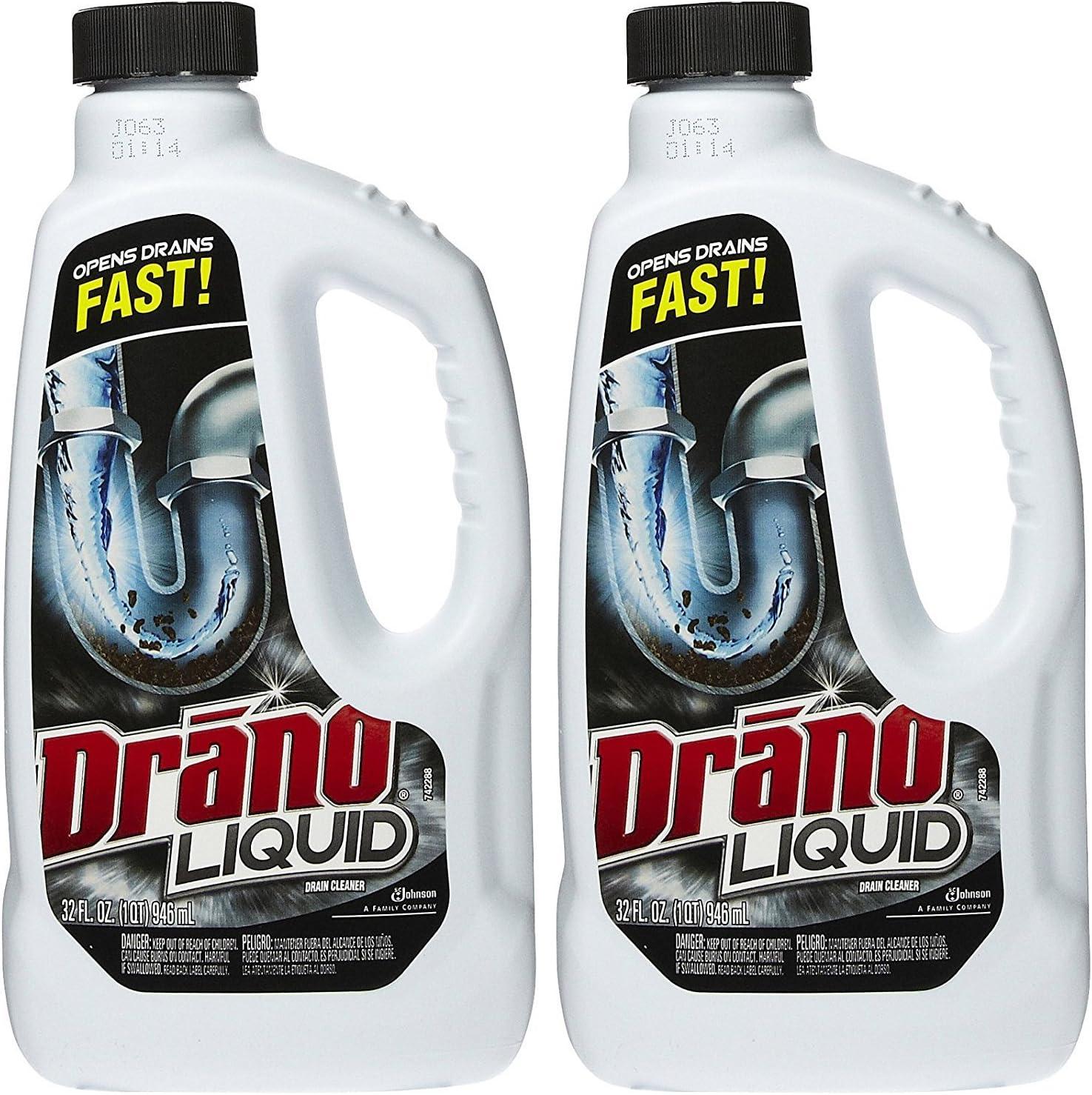 Drano Liquid Clog Remover, Regular Formula - 32 oz - 2 pk