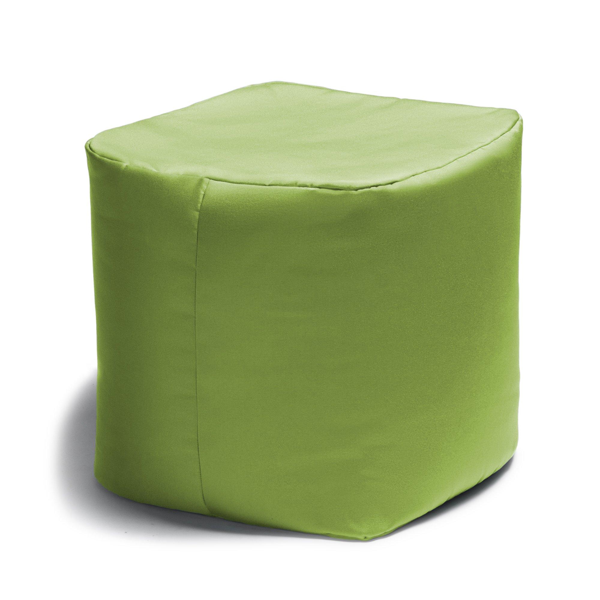 Jaxx Luckie Outdoor Patio Bean Bag Ottoman, Lime Green