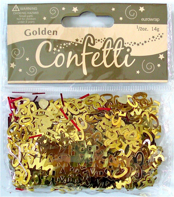 1 x GOLDEN 50TH GOLD WEDDING ANNIVERSARY PARTY TABLE CONFETTI Eurowrap PR2029A-MWR-Tbl-Cnft-A