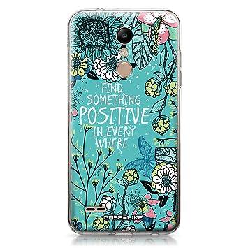 CASEiLIKE® Funda LG K10 2018, Carcasa LG K10 2018, Flores florecientes Turquesa 2249, TPU Gel Silicone Protectora Cover