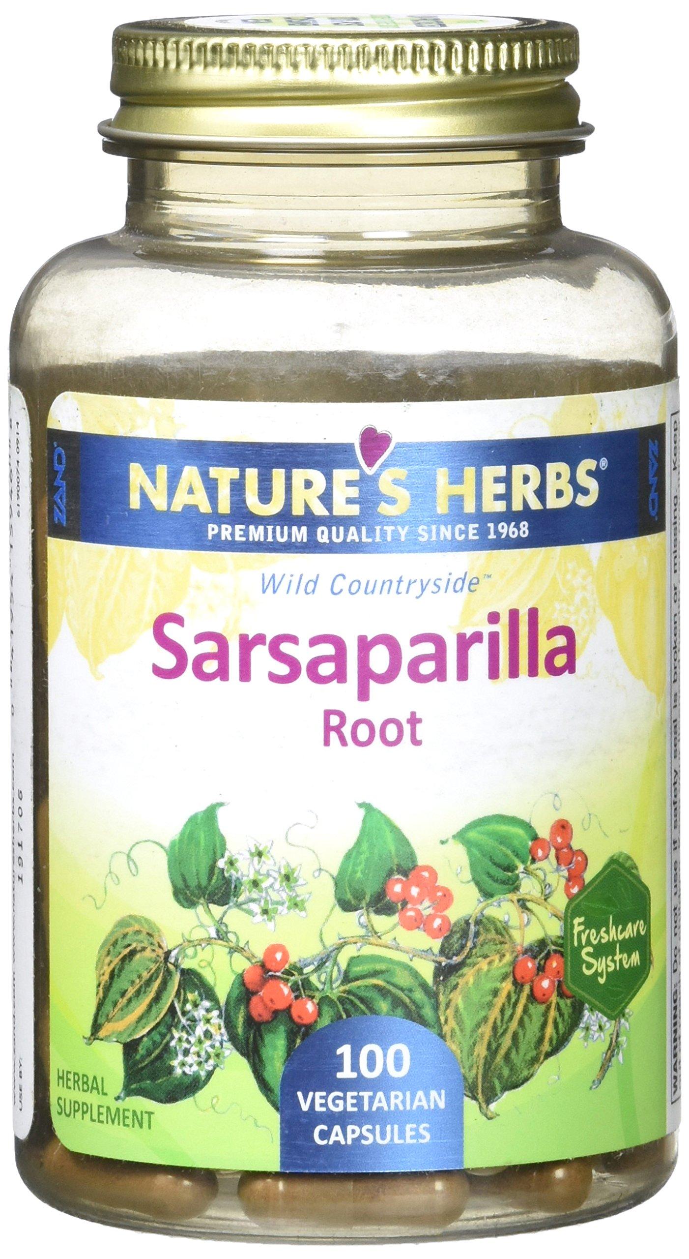 Nature's Herbs Zand Sarsaparilla Root Capsule, 100 Count
