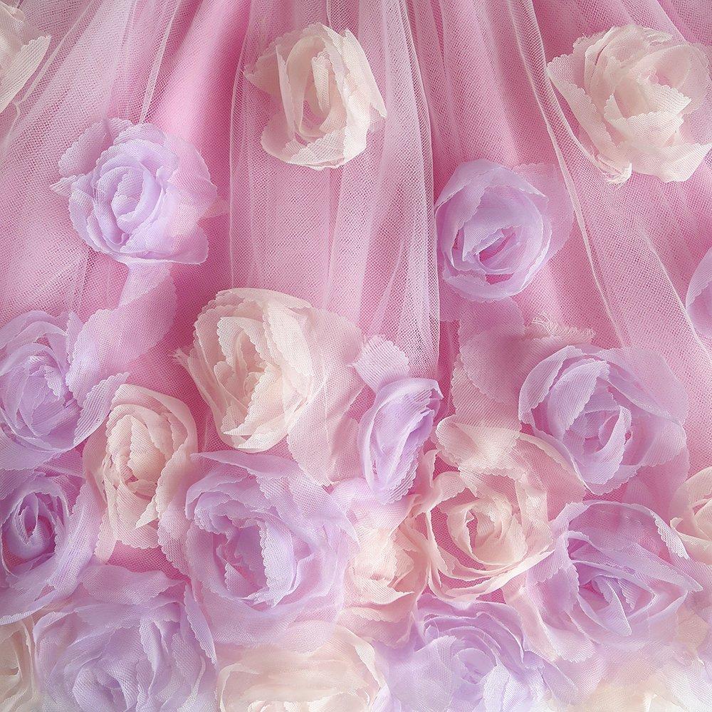 Sunny Fashion Flor Vestido para niña Falda Rosa Rosa niña Fashion ...