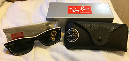 c945bdfd4fda Image Unavailable. Image not available for. Colour: Ray Ban New Wayfarer  Color Mix RB2132 875-52-18 Sunglasses Black/Light