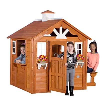 amazon com backyard discovery summer cottage all cedar wood rh amazon com backyard discovery playhouse mansion backyard discovery playhouse parts
