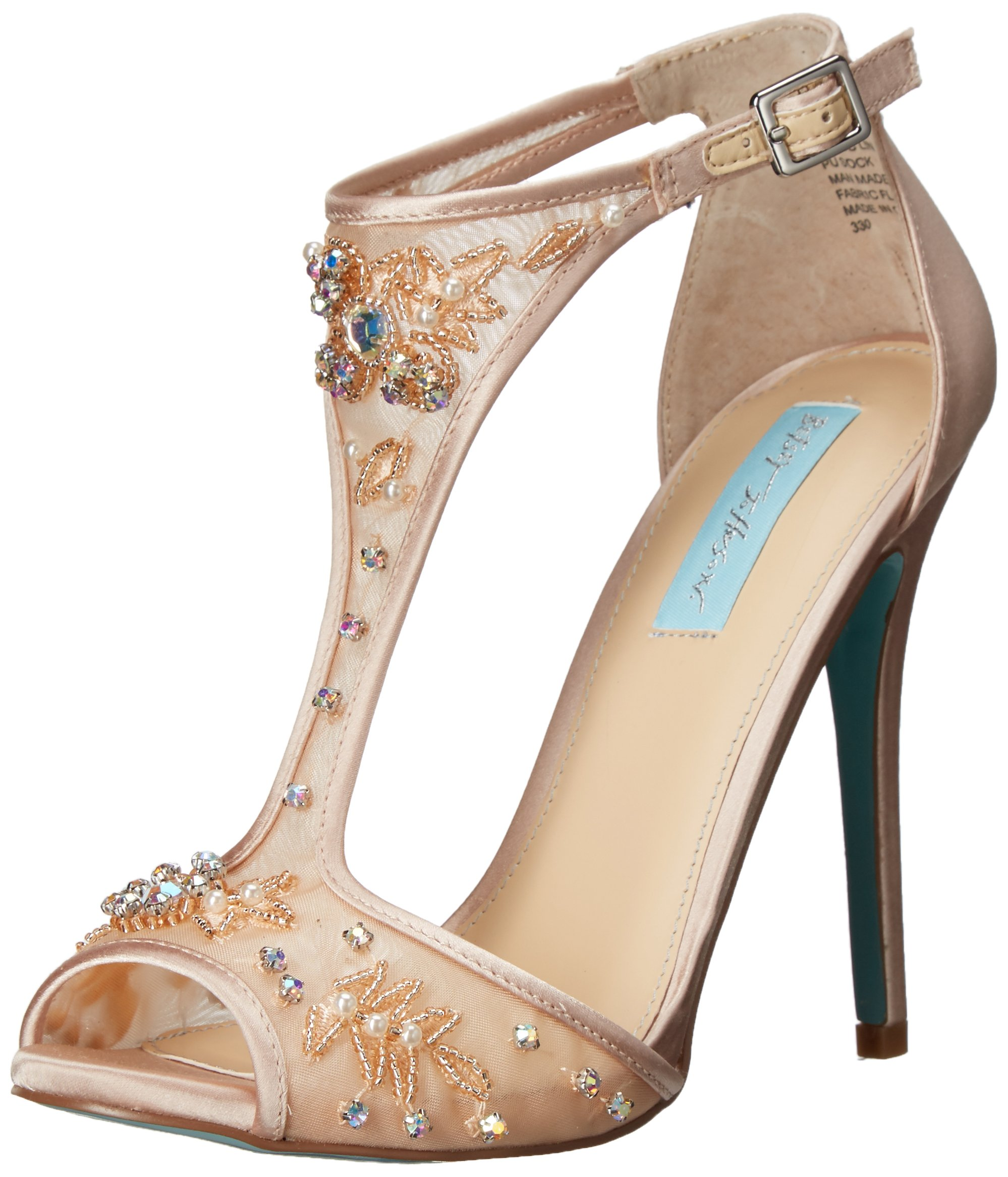 Blue by Betsey Johnson Women's SB-Holly Dress Sandal, Champagne, 8.5 M US by Betsey Johnson