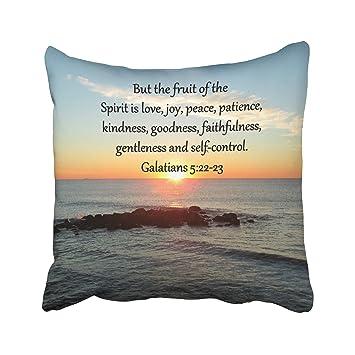 Amazoncom Musesh Galatians 5 Fruits Of The Spirit Quote Cushions