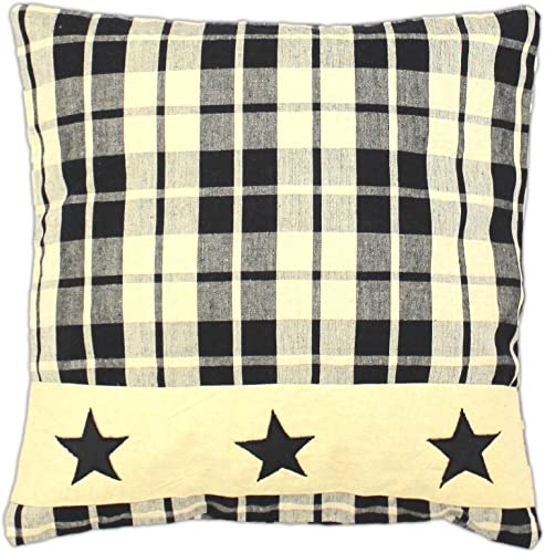 Black Farmhouse Star 16 Pillow