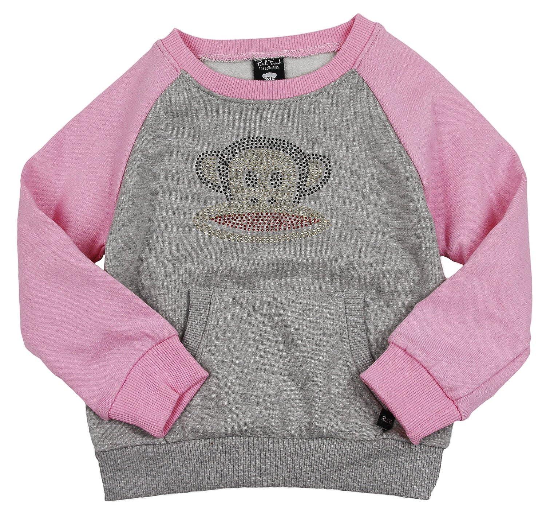 Paul Frank Little Girls Rhinestone Julius Raglan Fleece Popover Sweatshirt