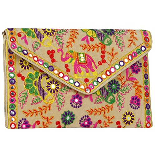 14187e7c18f2 Fressia Rajasthani jaipur Indian Bohemian art Sling Bag pack of 2 Foldover  Clutch Purse