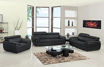 Fantastic Amazon Com Blackjack Furniture 4571 Black Sofa Set Leather Ibusinesslaw Wood Chair Design Ideas Ibusinesslaworg