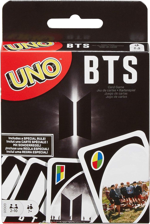 Mattel Games-Uno BTS Gioco di Carte del Gruppo Musicale, Multicolore, GDG35