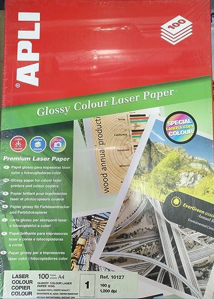 caja 100 hojas laser 160 gr. glossy APLI A4: Amazon.es ...