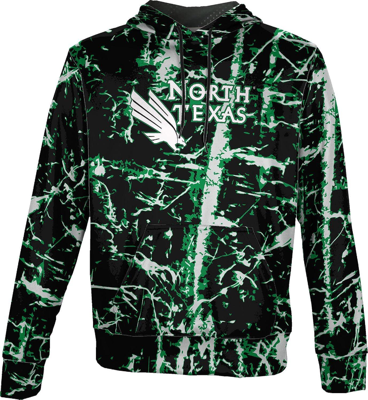 Distressed School Spirit Sweatshirt University of North Texas Mens Pullover Hoodie