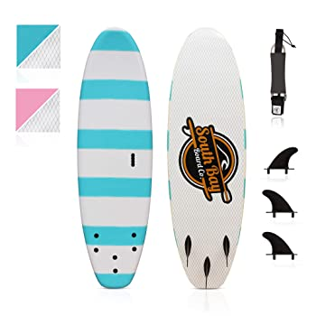 6' Guppy White Stripes Surfboard by South Bay Board Co