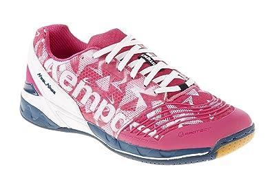 0d1316e539661 Kempa Attack One, Chaussures de Handball Femme, Multicolore  (Magenta Blanc Pétrole