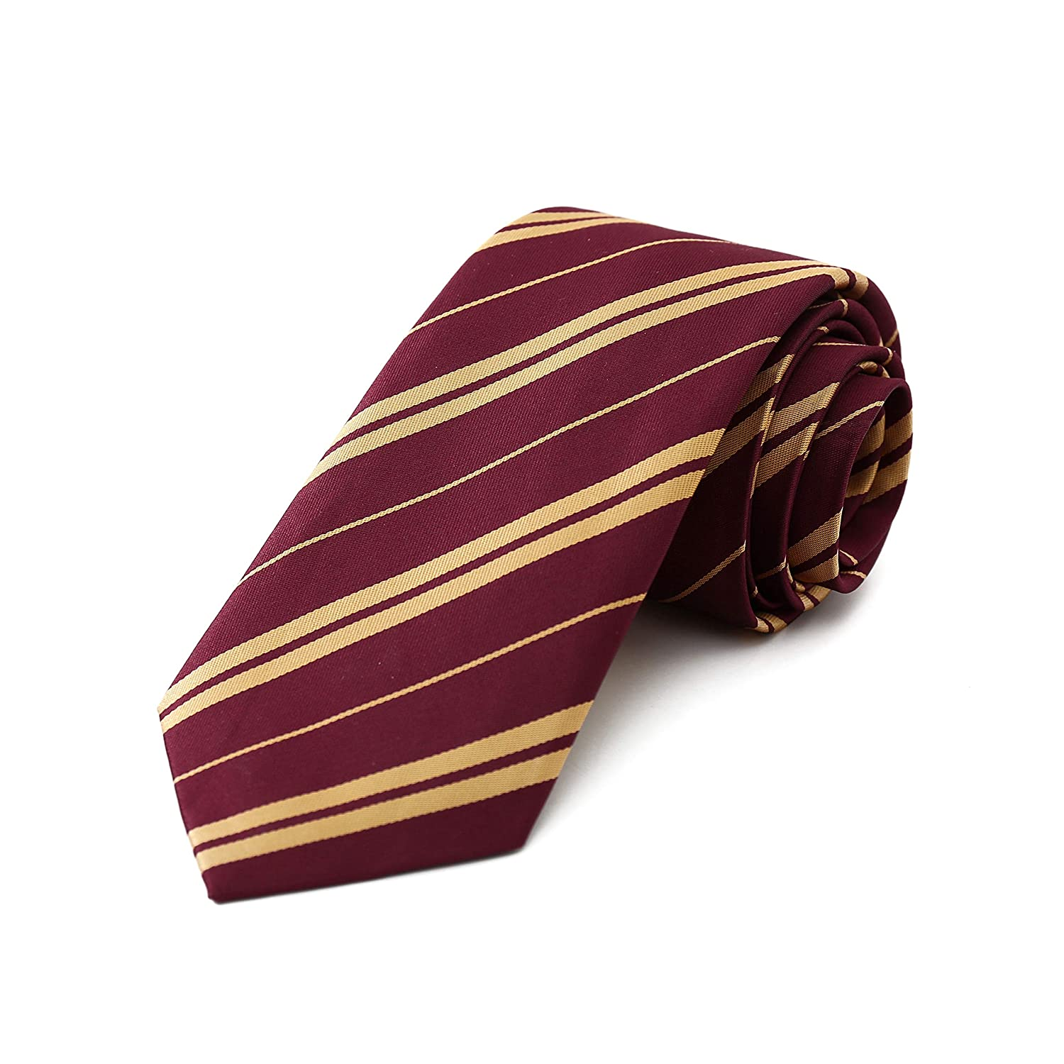 Giraffe Manufacturing Wizard Tie Harry Costume - Maroon and Gold Tie for Kids and Adults