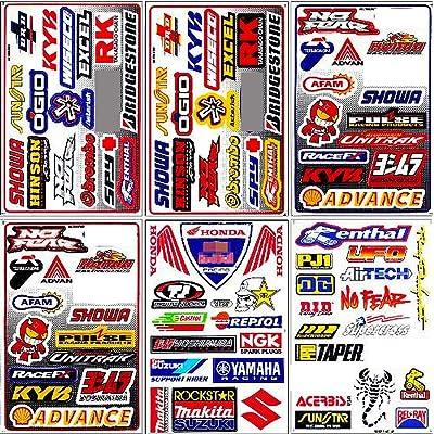 Graphic Racing Sticker Decal Motocross ATV Dirt 6 Sheets: Automotive [5Bkhe0902193]