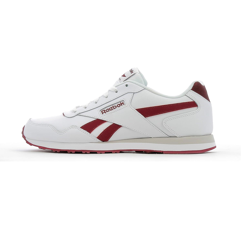 White (White   Collegiate Burgundy   Steel) Reebok Men's Royal Glide Lx Trainers