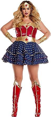 Wonderful Sweetheart Wonderwoman Wonder Woman Adult Womens Costume NEW
