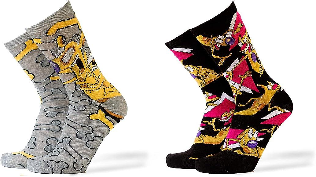 HYP CatDog Heather and Black 2Pk Casual Crew Socks Shoe Size 612
