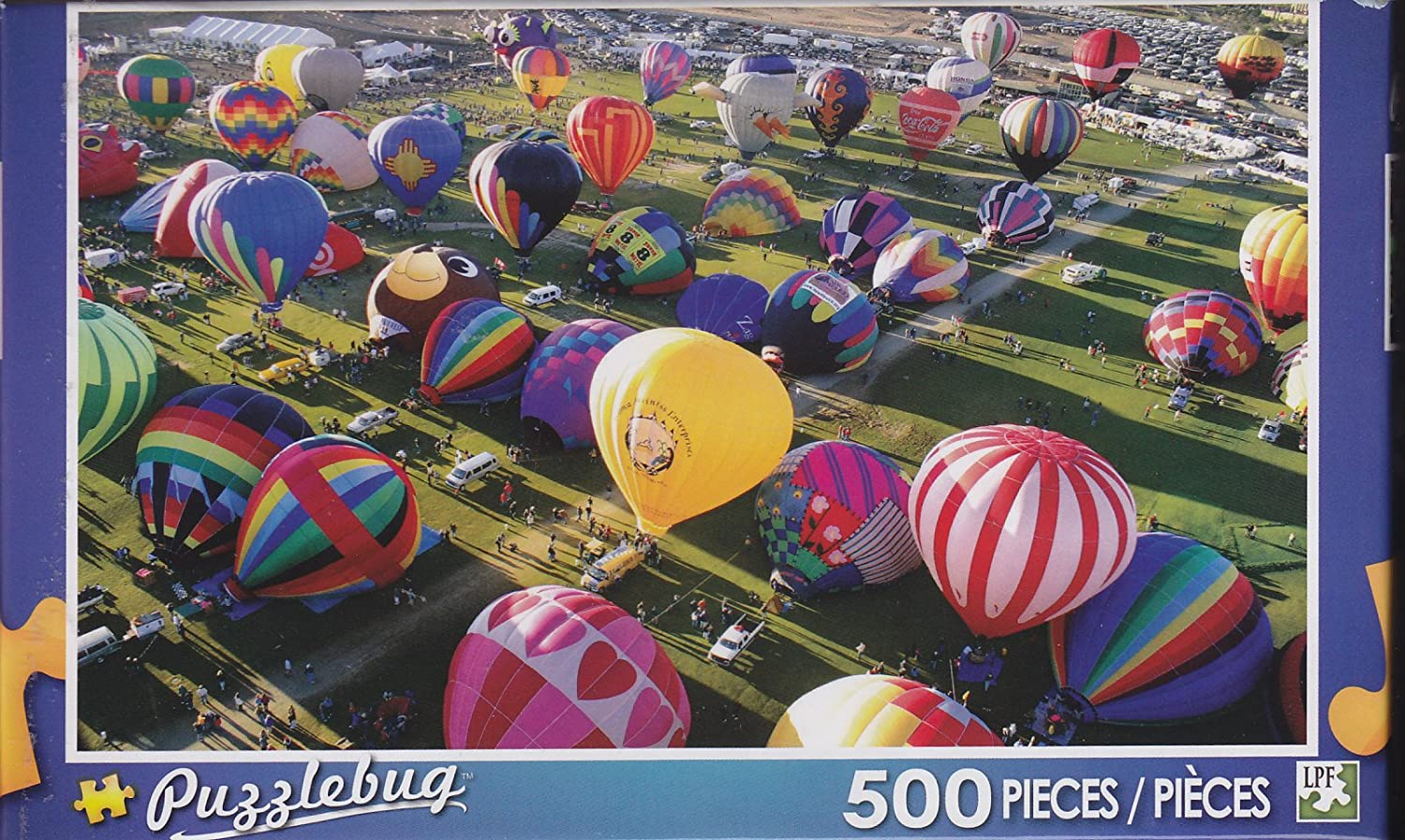 Puzzlebug 500 Piece Puzzle  Ready for Takeoff, Albuquerque Hot Air Balloon Festival by LPF