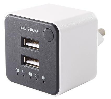 GAO emp605usb Dual de Carga Conector USB con Temporizador de Cuenta atrás