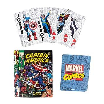 Paladone- BARAJA DE Cartas Marvel Comic Book, (C3B837F48E ...