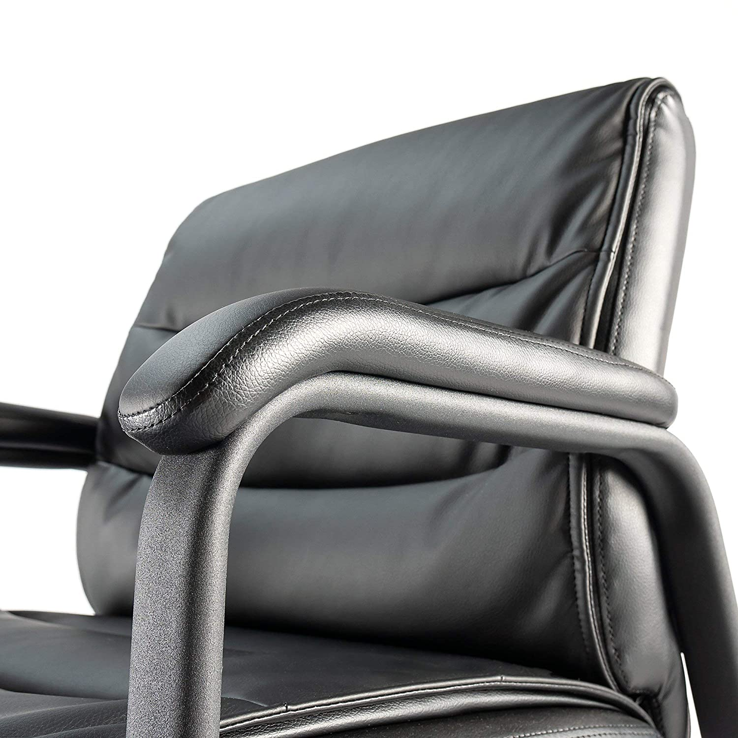 Bush Business Furniture Soft Sense Big and Tall High Back Leather Executive Office Chair in Black Bush Industries CH1503BLL-03