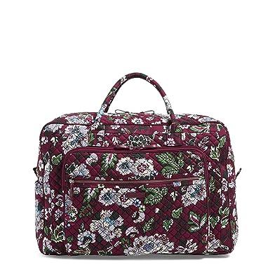 04f527b75 Vera Bradley Iconic Grand Weekender Travel Bag, Signature Cotton, Bordeaux  Blooms