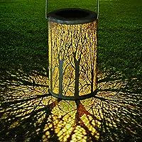 LED Luz Colgante Solar del Jardín, GolWof Farol Solar Exterior Luces de Linterna Lámpara con Diseño de Marruecos IP44…