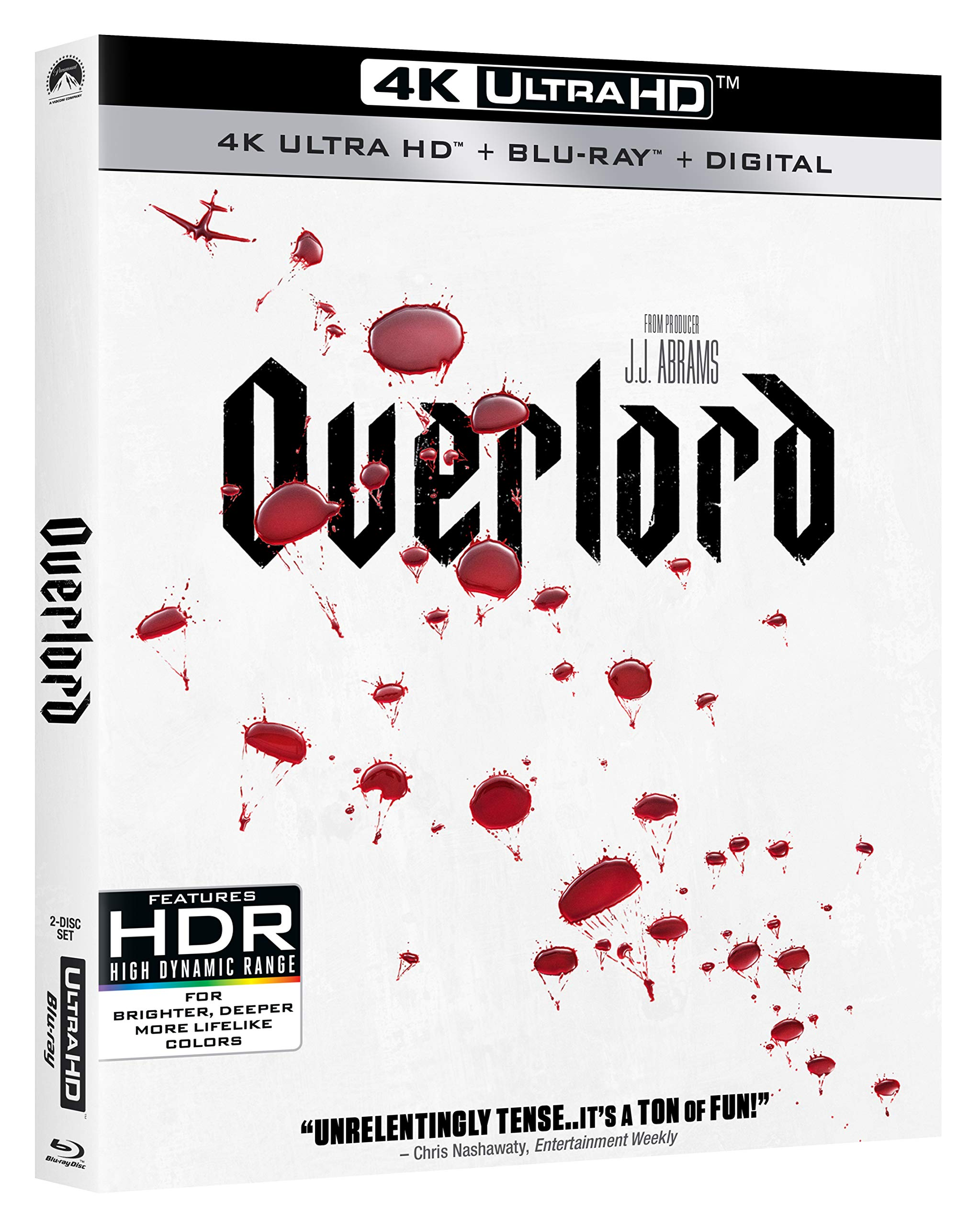 4K Blu-ray : Overlord (With Blu-ray, 4K Mastering, 2 Pack, Widescreen, Amaray Case)