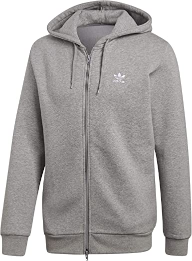 adidas Trefoil Fleece sweat à capuche medium grey: