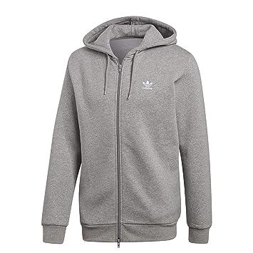 adidas Trefoil Fleece Sudadera con capucha medium grey