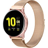 20mm Bands Compatible with Samsung Galaxy Watch 3 41mm / Active 2 (44mm/40mm) / Active / Galaxy Watch 42mm Band, 20mm…