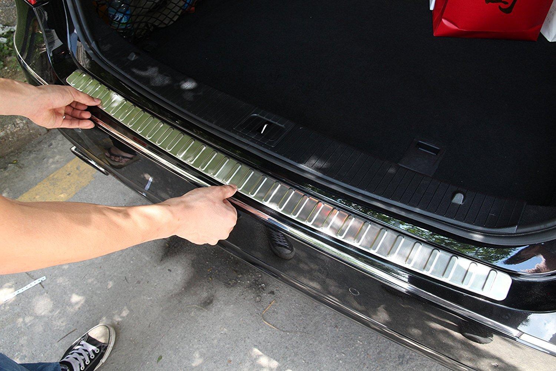 Stainless Steel Rear Bumper Exterior Sill Protector Plate For Mercedes Benz W212 E180L E200L E260L E300L 2010-2015 Accessories Sheng Tong