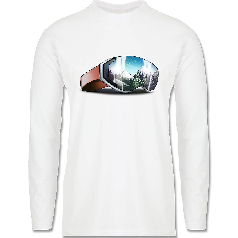 Wintersport - Skibrille - Longsleeve / langärmeliges T-Shirt für Herren