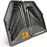 Hinrichs sexkant sats tum och metrisk 30 delar - Inre sexkantsnyckel set - 0,7 till 10 mm och 0,028 till 3/8 tum…