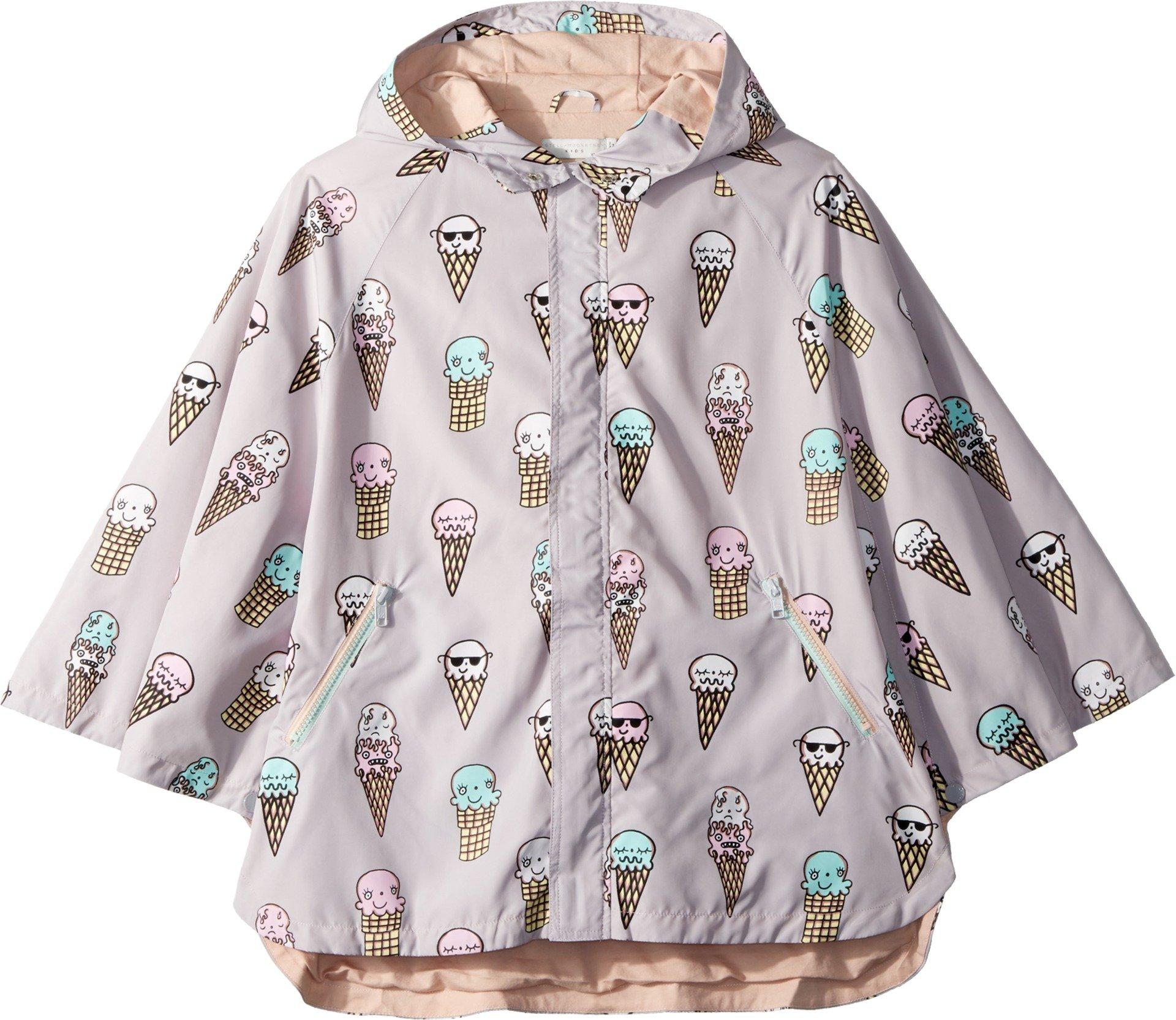 Stella McCartney Kids Baby Girl's Froggie Ice Cream Print Rain Cape (Toddler/Little Kids/Big Kids) Lilac 12