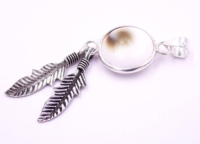 Pendentif /Œil De Sainte Lucie Shiva Eye Argent 925 collier coquillage bijoux