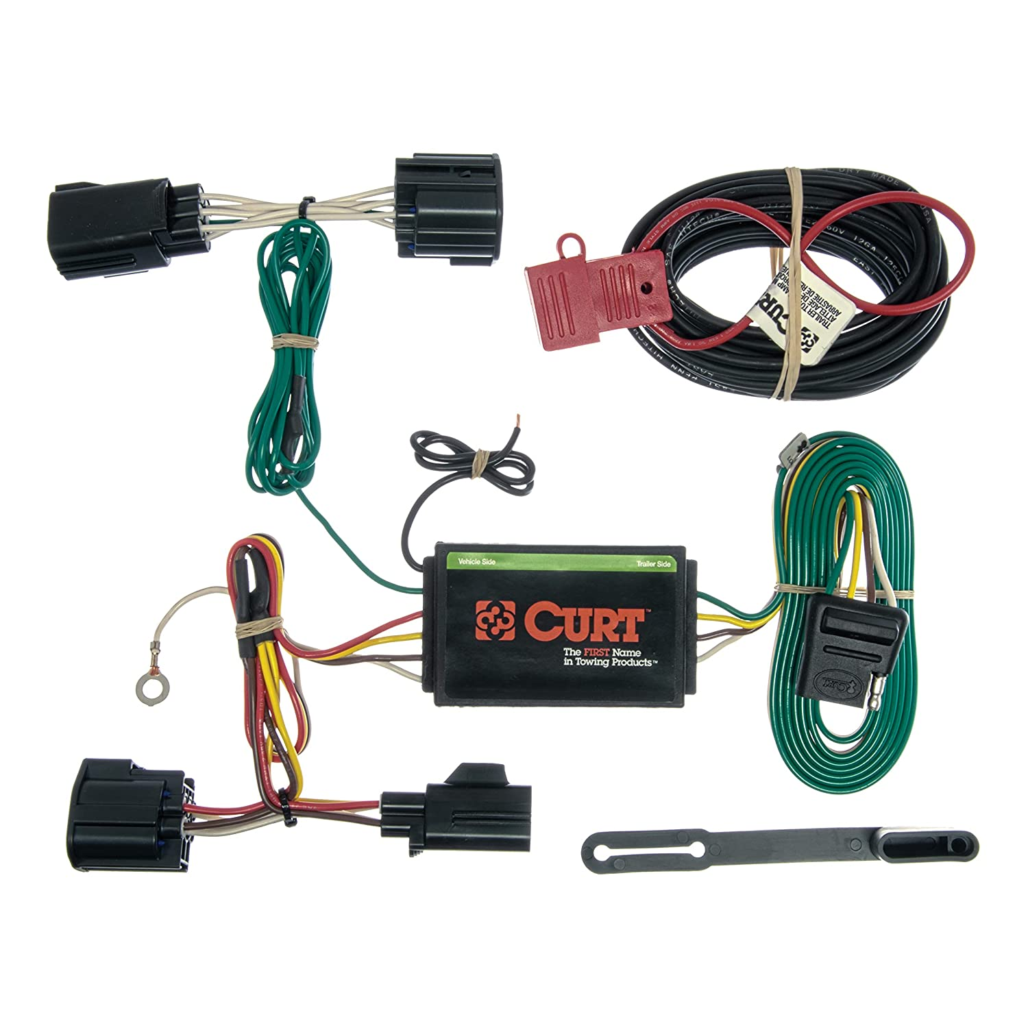 CURT 56140 Vehicle-Side Custom 4-Pin Trailer Wiring Harness for Select on