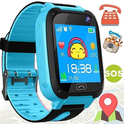 Amazon.com: Reloj inteligente para niños, con GPS y pantalla ...