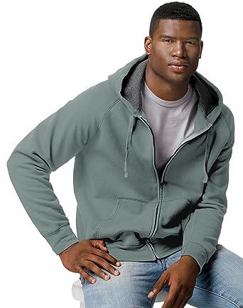 2423d33a4 Hanes Men Nano Premium Lightweight Full Zip Hoodie, Vintage Khaki, 2XL