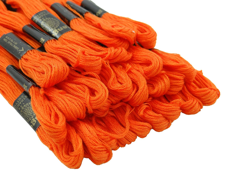 25/pcs incluso blu punto cotone cucito Skeins ricamo Floss Thread Knitting Bleu-1