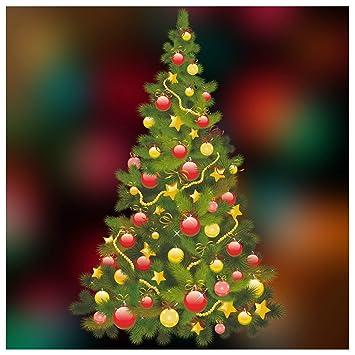 Traditional Christmas.Christmas Window Stickers Traditional Christmas Tree Xmas Window Cling Decoration