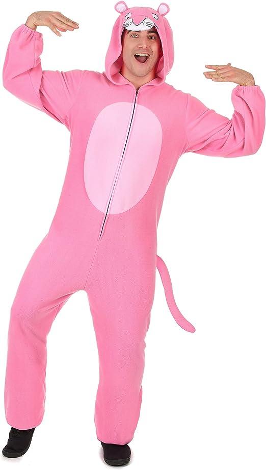 Traje de pantera rosa con capucha rosa hombre Única: Amazon.es ...