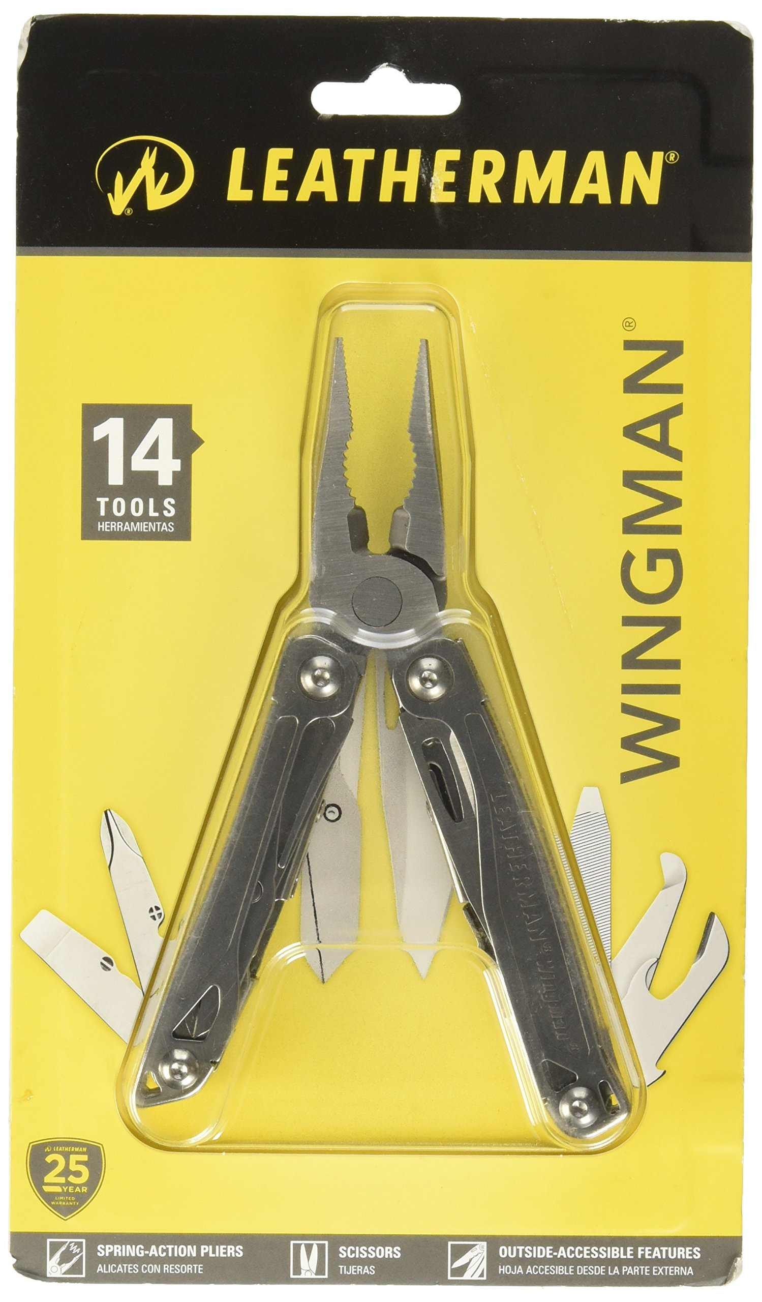 Leatherman (831425) Wingman Multi-Tool, Silver, 14 Piece Set